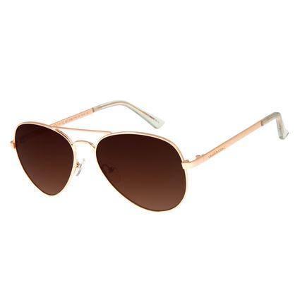 Óculos de Sol Unissex Chilli Beans Aviador Clássico Rosê OC.MT.2766-5795