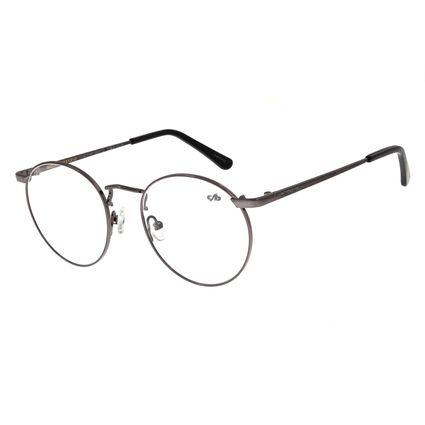 Armação Para Óculos De Grau Unissex Metal Grafite LV.MT.0350-2424