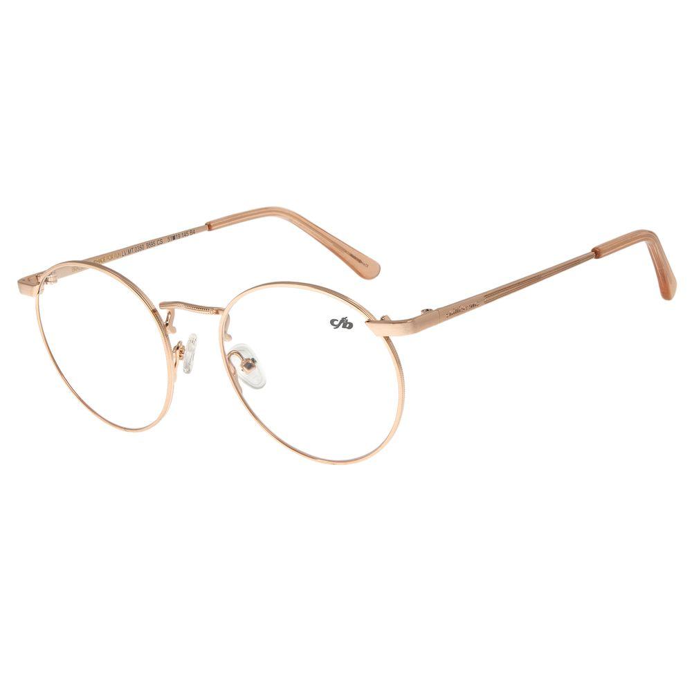 Armação Para Óculos De Grau Unissex Metal Rosê LV.MT.0350-9595