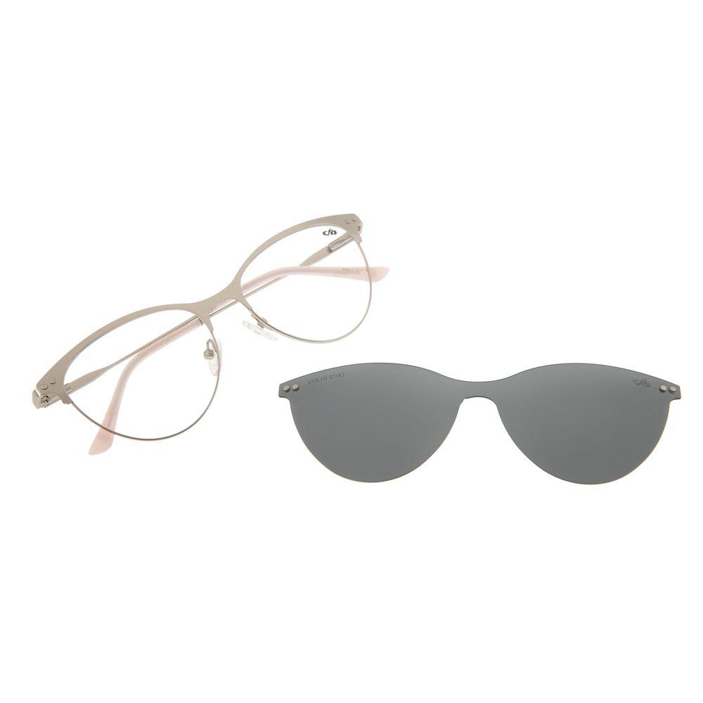 Armação Para Óculos de Grau Feminino Chilli Beans Multi Gatinho Prata LV.MU.0212-0107