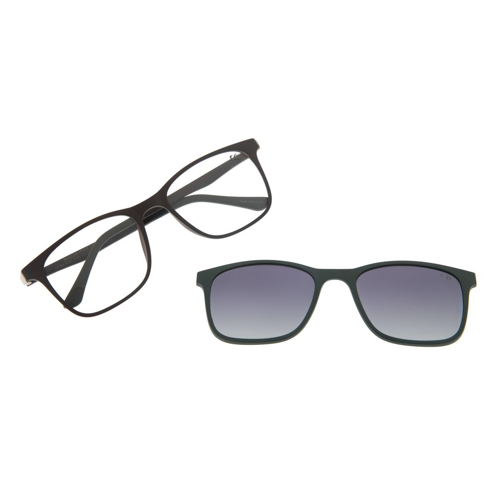 Armação Para Óculos de Grau Masculino Chilli Beans Multi Retangular Marrom LV.MU.0215-2002