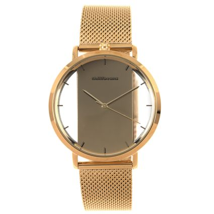 Relógio Analógico Feminino Chilli Beans Metal Translúcido Dourado RE.MT.0917-2121