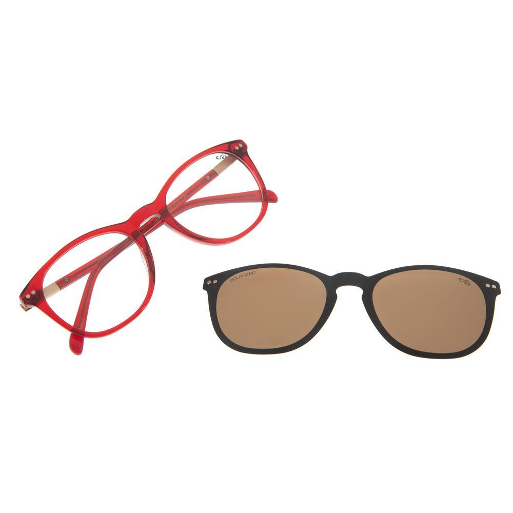 Armação Para Óculos de Grau Feminino Chilli Beans Multi Redondo Vermelho LV.MU.0221-0216