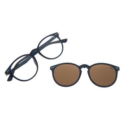 Armação Para Óculos De Grau Unissex Multi Cinza Escuro LV.MU.0311-0208