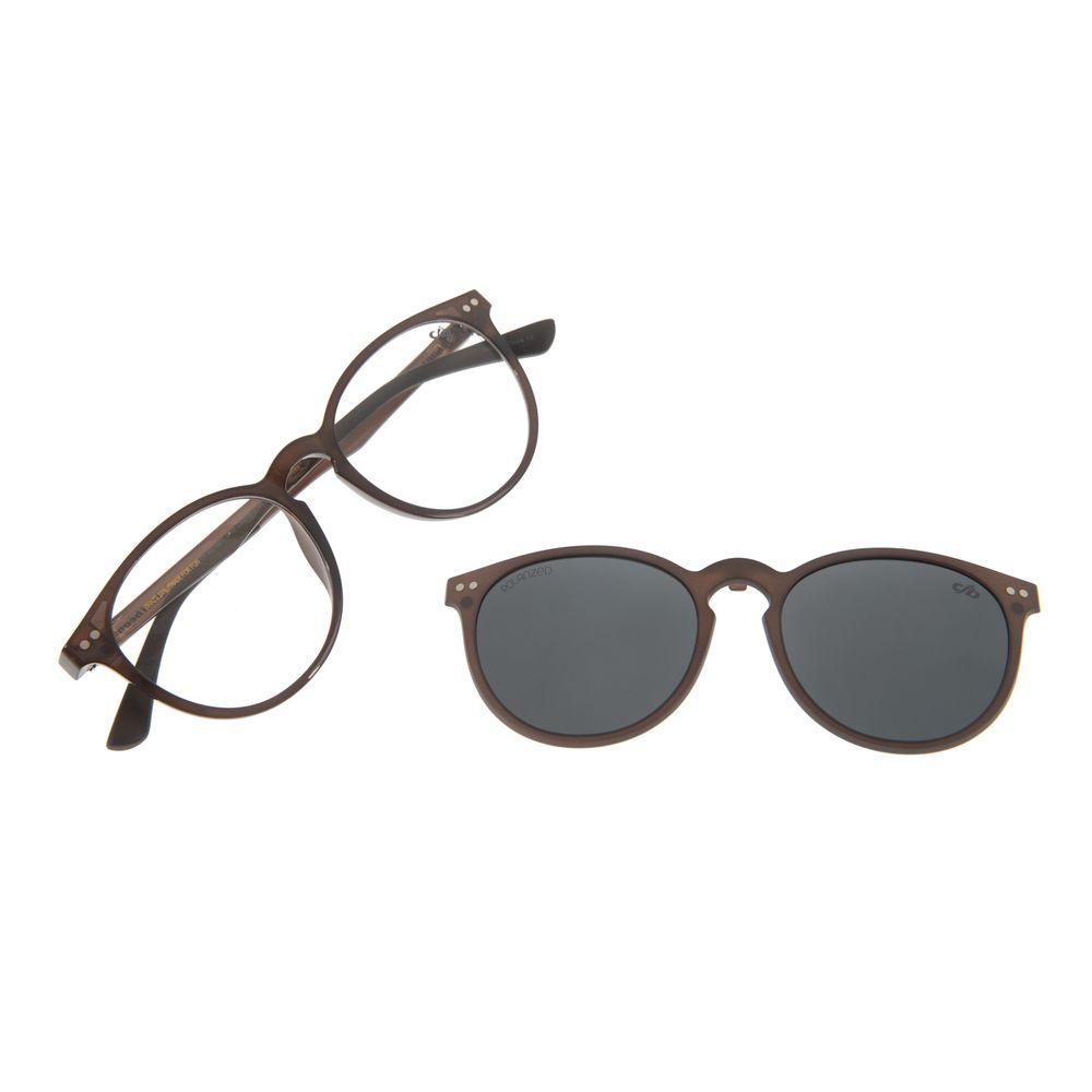 Armação Para Óculos de Grau Unissex Chilli Beans Multi Redondo Marrom LV.MU.0311-0402
