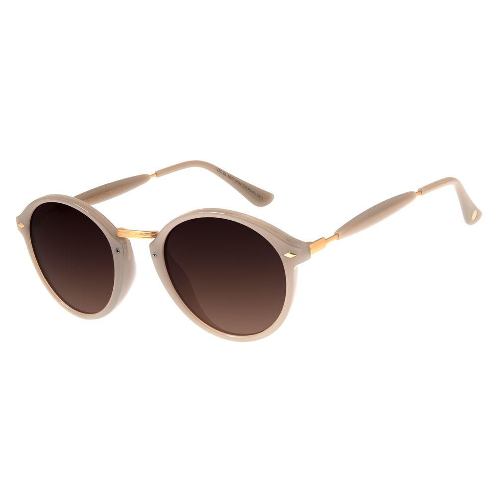 Óculos De Sol Unissex Chilli Beans Redondo Cinza OC.CL.1677-5704