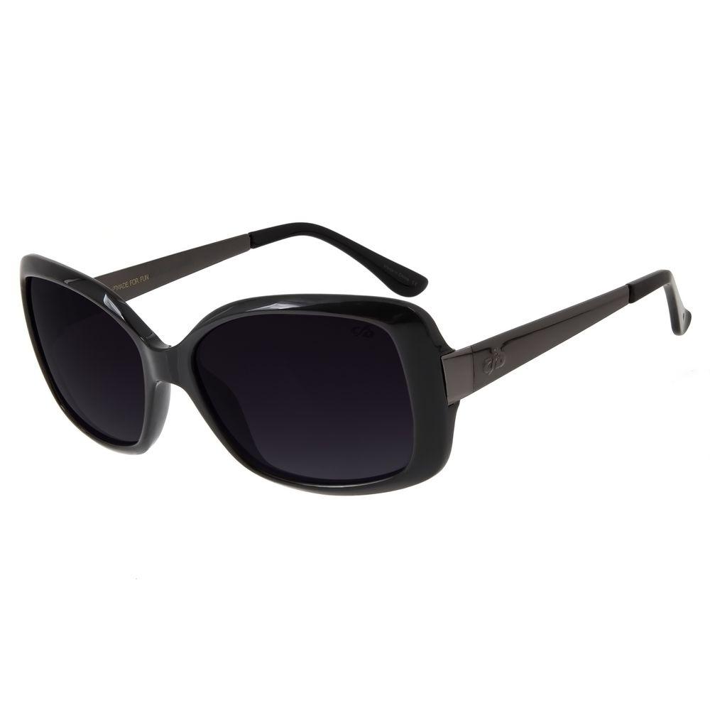Óculos De Sol Feminino Chilli Beans Quadrado Preto OC.CL.2123-2001