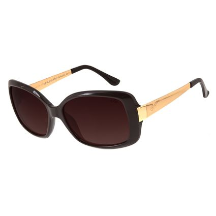 Óculos De Sol Feminino Chilli Beans Quadrado Marrom Escuro OC.CL.2123-5747