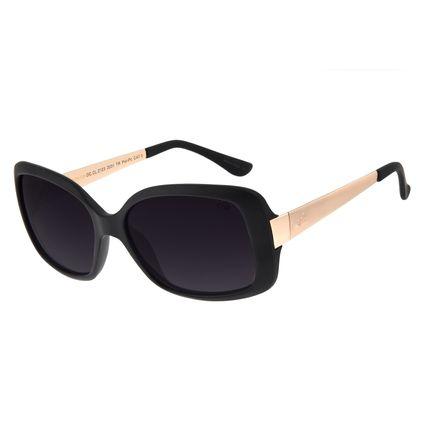 Óculos De Sol Feminino Chilli Beans Quadrado Preto Fosco OC.CL.2123-2031