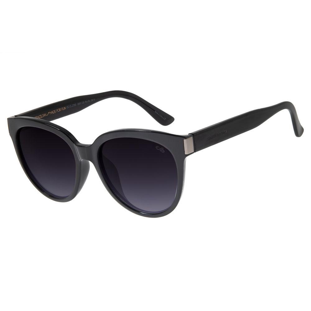 Óculos de Sol Feminino Chilli Beans Basic Redondo Preto OC.CL.2793-2001