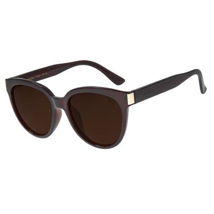 Óculos De Sol Feminino Chilli Beans Redondo Marrom OC.CL.2793-0202