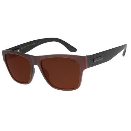 Óculos De Sol Masculino Chilli Beans Bossa Nova Marrom Escuro Polarizado OC.CL.2847-0247