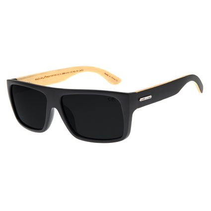 Óculos De Sol Masculino Chilli Beans Bossa Nova Preto Fosco Polarizado OC.CL.2854-0131