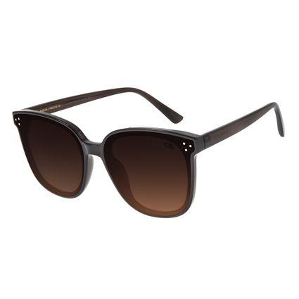 Óculos De Sol Feminino Chilli Beans Quadrado Marrom Escuro OC.CL.2879-5702