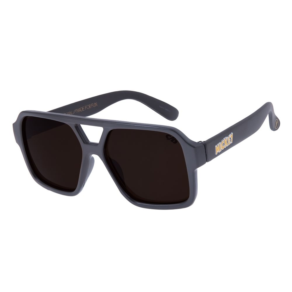 Óculos de Sol Infantil Chilli Beans Aviador Mickey Mouse Marrom OC.KD.0623-0202