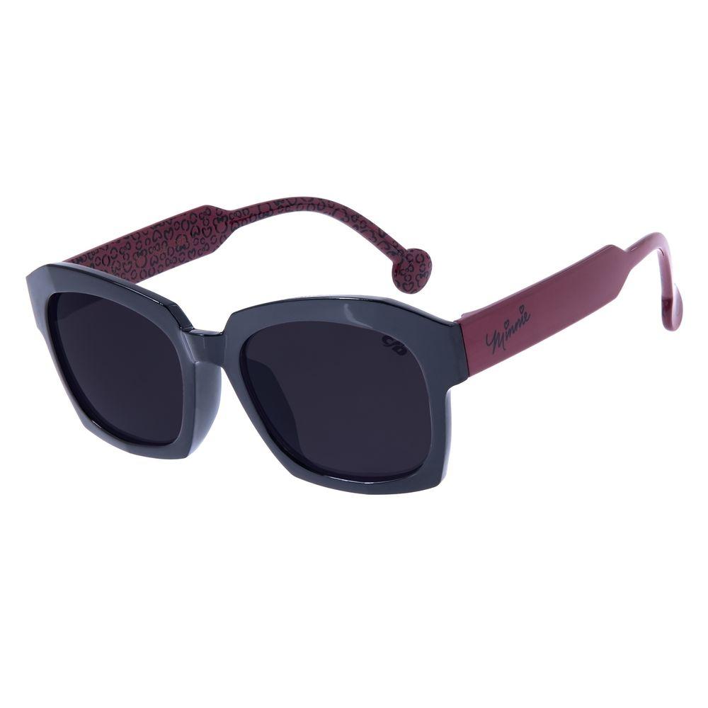 Óculos de Sol Infantil Chilli Beans Quadrado Disney Minnie Preto OC.KD.0626-0101