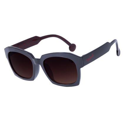 Óculos de Sol Infantil Chilli Beans Quadrado Disney Minnie Marrom OC.KD.0626-5702