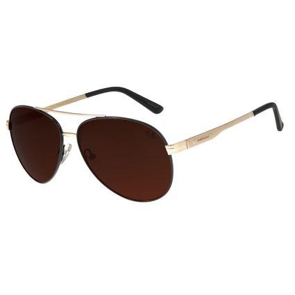 Óculos De Sol Masculino Chilli Beans Aviador Dourado OC.MT.2628-0221