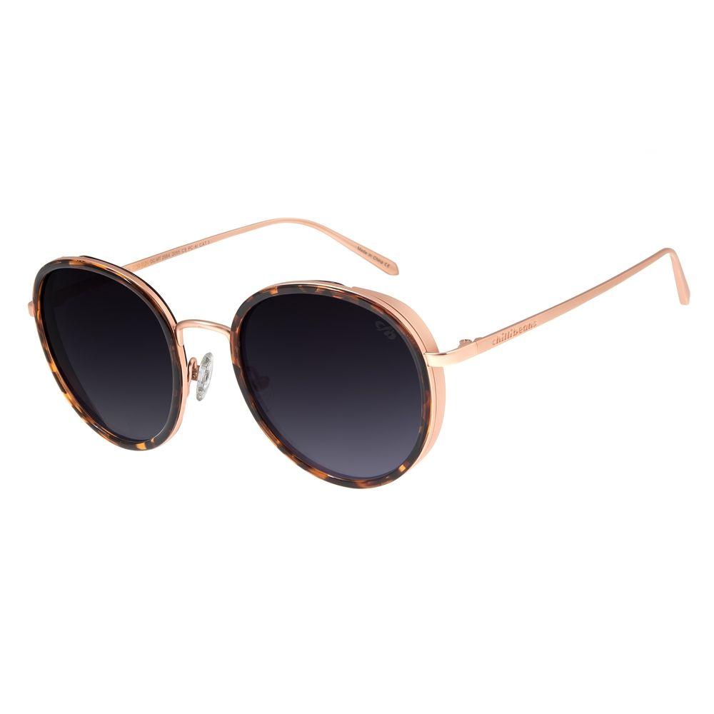 Óculos De Sol Feminino Chilli Beans Banhado A Ouro Degradê OC.MT.2684-2095