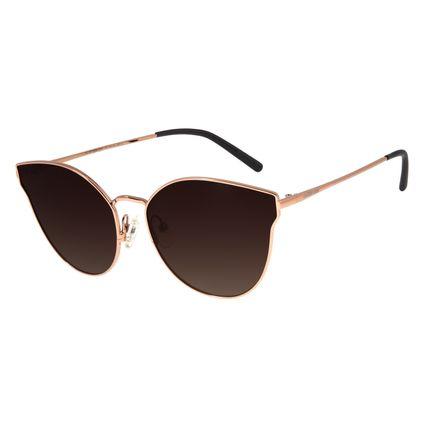 Óculos De Sol Feminino Chilli Beans Gatinho Marrom Escuro Polarizado OC.MT.2698-5747