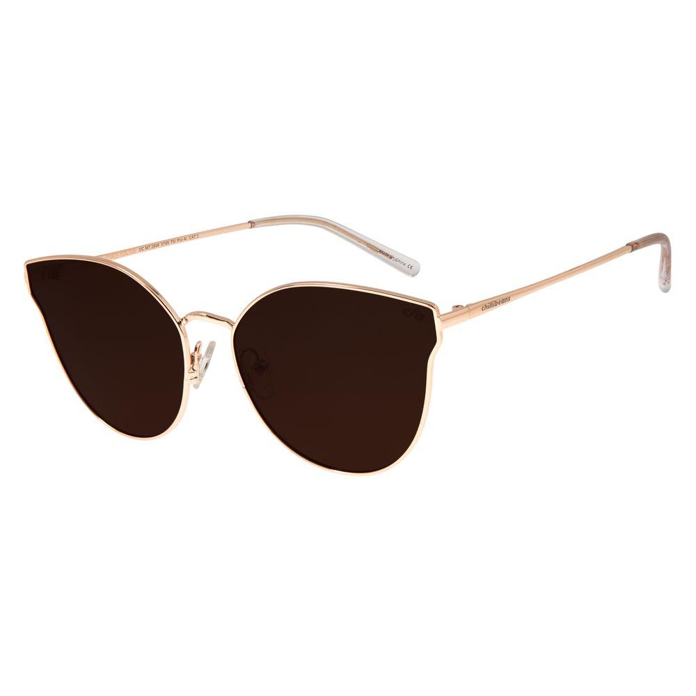 Óculos De Sol Feminino Chilli Beans Gatinho Rosê Polarizado OC.MT.2698-5795