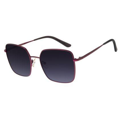 Óculos de Sol Feminino Chilli Beans Quadrado Metal Vinho OC.MT.2706-2017