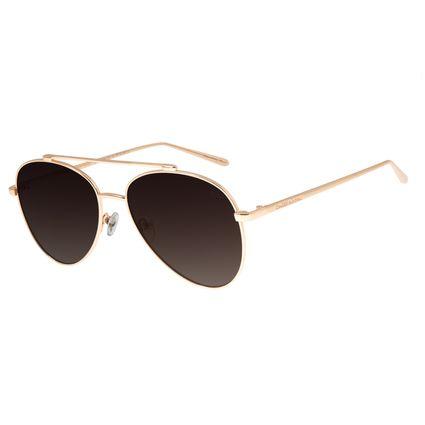 Óculos De Sol Feminino Chilli Beans Gatinho Dourado Polarizado OC.MT.2708-5721