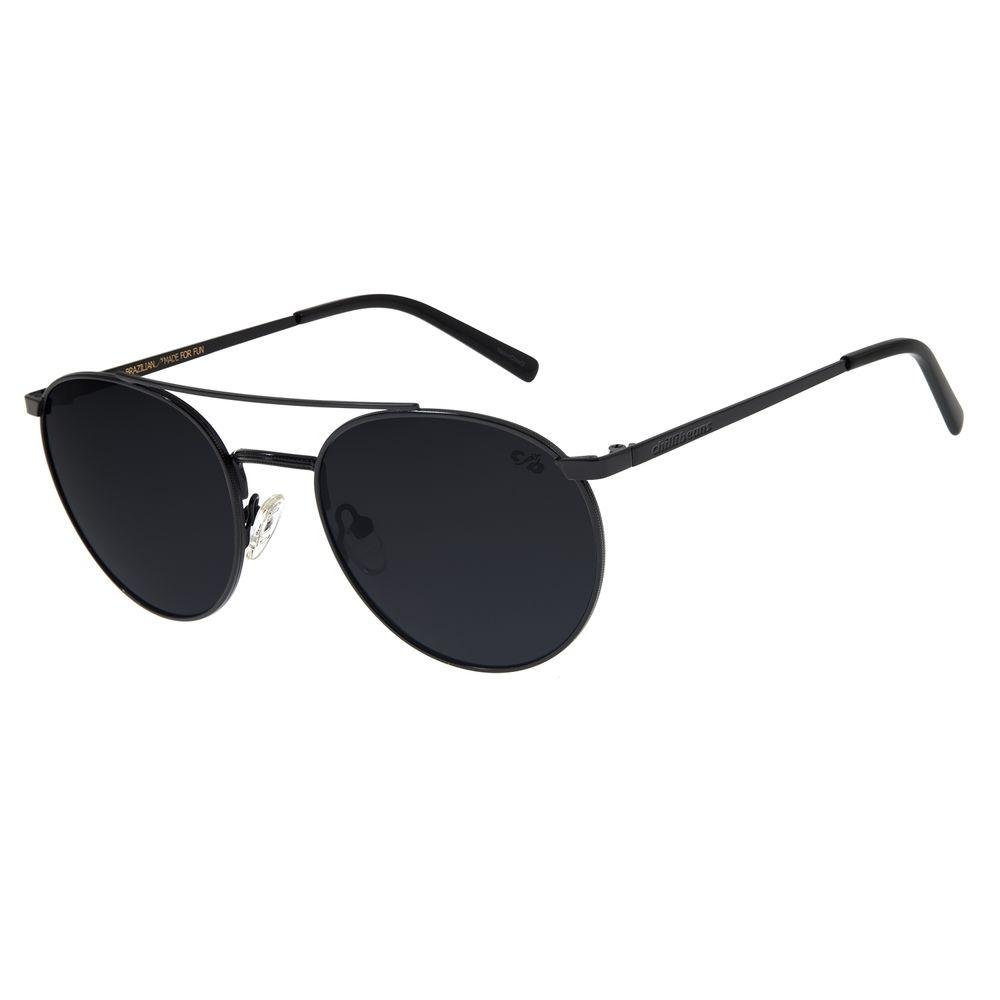 Óculos de Sol Unissex Chilli Beans Redondo Preto Polarizado OC.MT.2723-0501