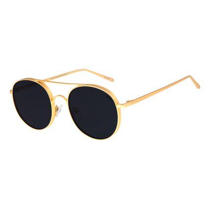 Óculos De Sol Unissex Chilli Beans Banhado A Ouro Dourado OC.MT.2734-0521