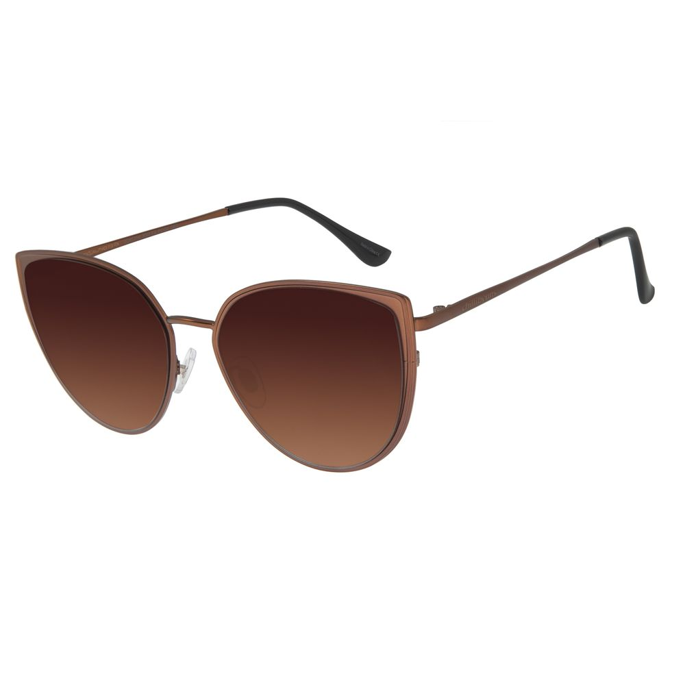 Óculos De Sol Feminino Chilli Beans Gatinho Cobre Marrom OC.MT.2749-5702