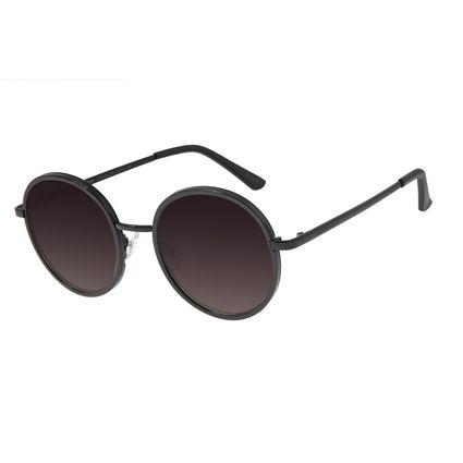 Óculos De Sol Feminino Chilli Beans Redondo Preto Brilho OC.MT.2753-2030