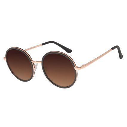 Óculos De Sol Feminino Chilli Beans Redondo Marrom OC.MT.2753-5702