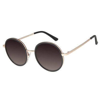 Óculos De Sol Feminino Chilli Beans Redondo Preto OC.MT.2753-2001