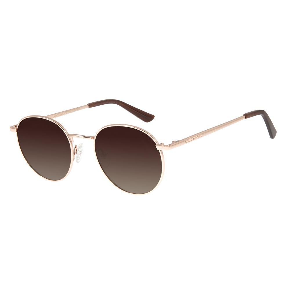 Óculos De Sol Unissex Chilli Beans Redondo Metal Rosê OC.MT.2768-5795