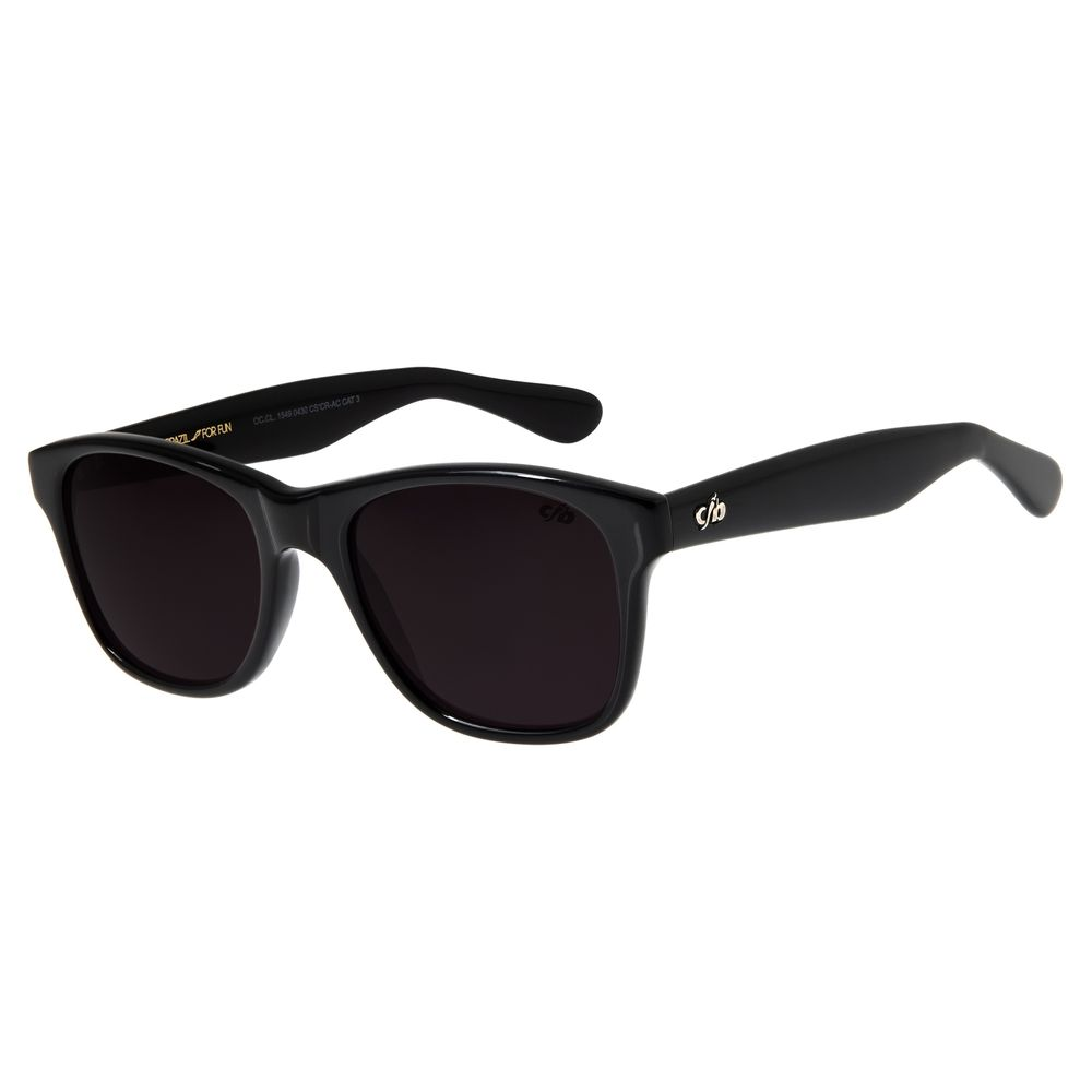 Óculos de Sol Unissex Chilli Beans Bossa Nova Preto Brilho OC.CL.1549-0430