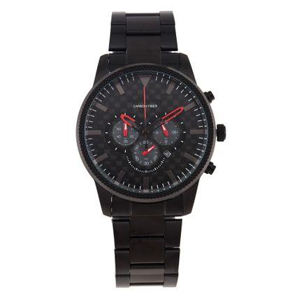 Relógio Cronógrafo Masculino Chilli Beans Carbon Fiber Preto RE.MT.0897-0101