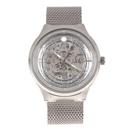 Relógio Automático Masculino Chilli Beans Metal Brilho Prata RE.MT.0935-1907