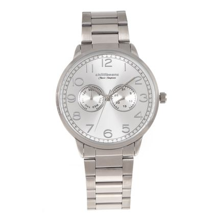 Relógio Analógico Masculino Chilli Beans Classic Timepiece Prata RE.MT.0939-0707