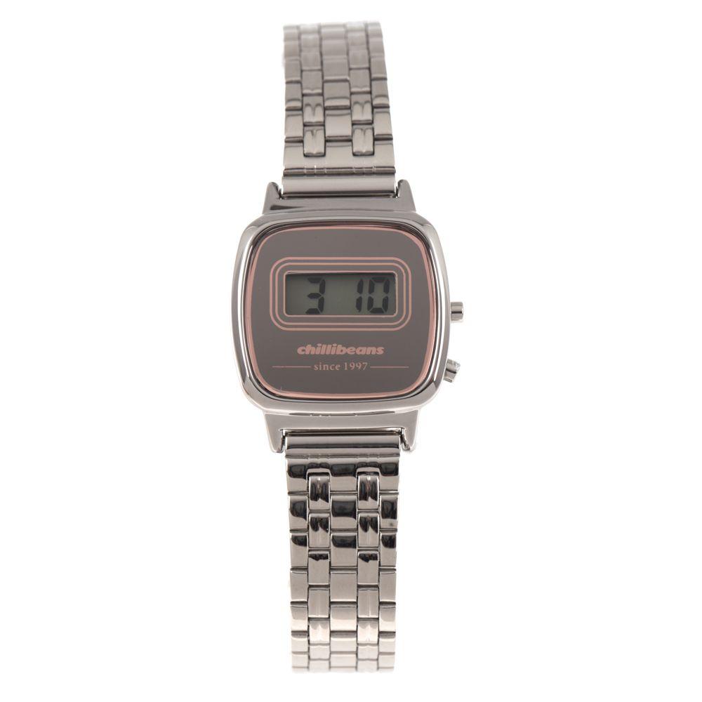 Relógio Digital Feminino Chilli Beans Mini Prata RE.MT.0944-0707