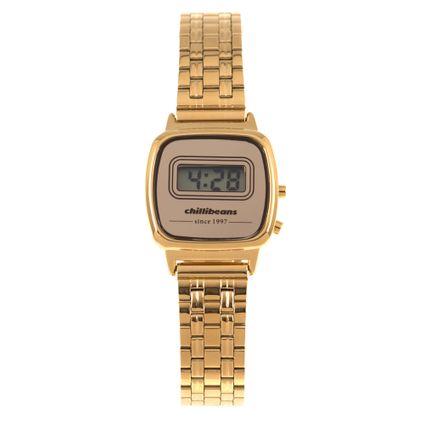 Relógio Digital Feminino Chilli Beans Mini Dourado RE.MT.0944-2121