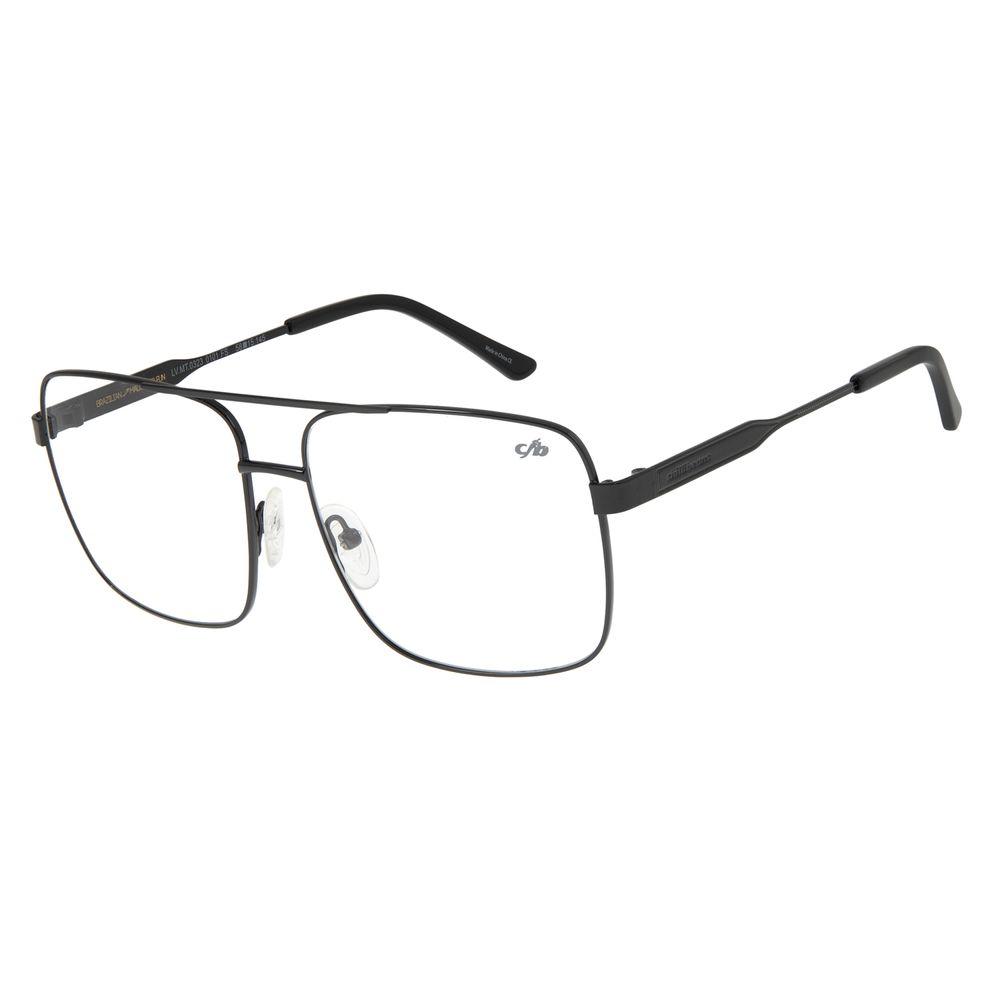 Armação Para Óculos de Grau Masculino Chilli Beans Metal Preta LV.MT.0323-0101
