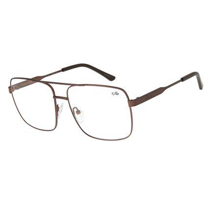 Armação Para Óculos de Grau Masculino Chilli Beans Metal Marrom LV.MT.0323-0202