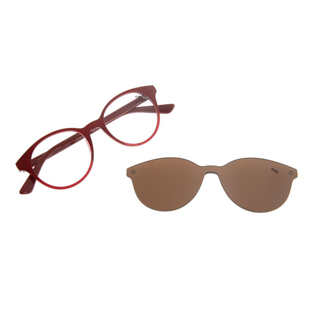 Armação Para Óculos de Grau Feminino Chilli Beans Multi Redondo Vermelho LV.MU.0114-2016
