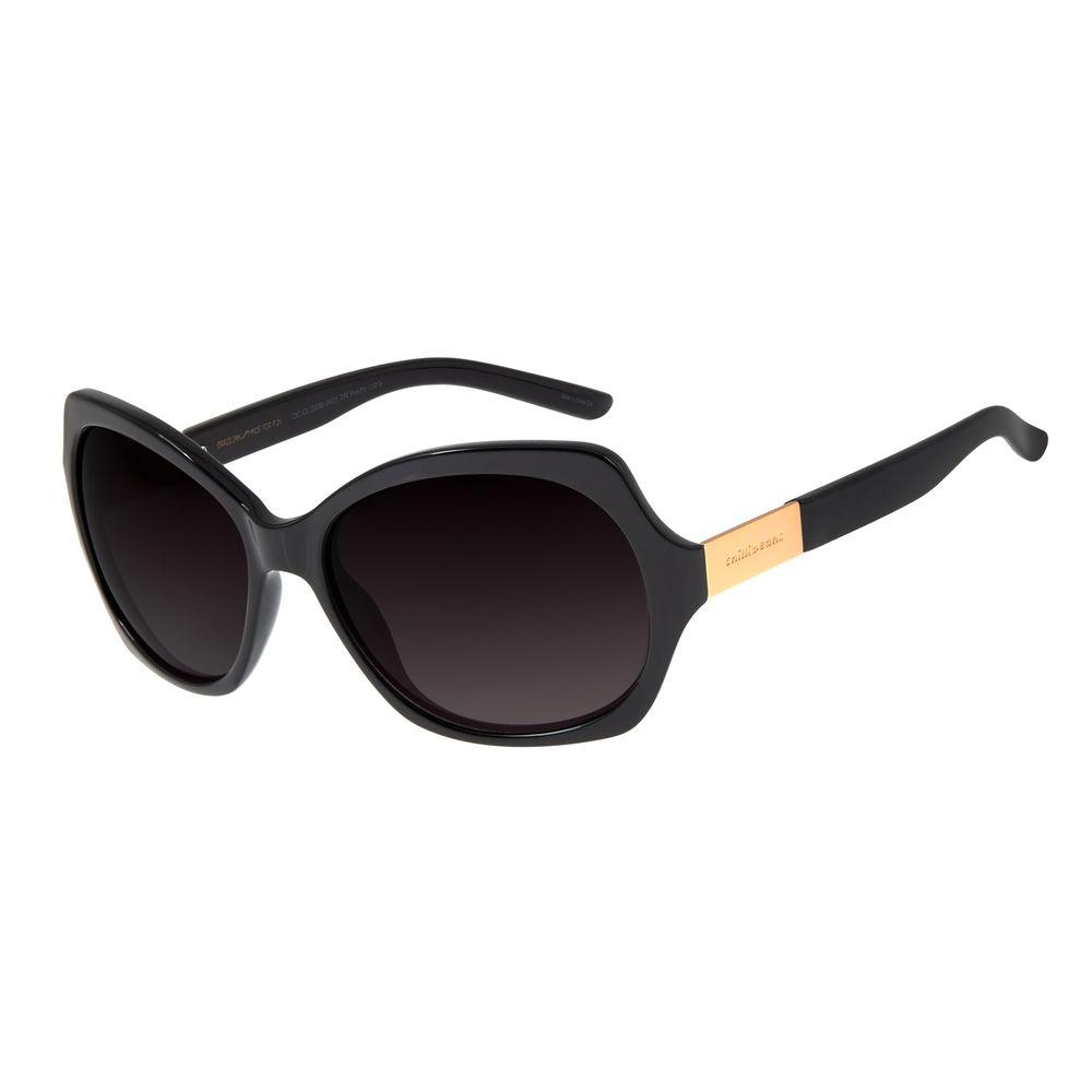 Óculos de Sol Feminino Chilli Beans Quadrado Polarizado Preto OC.CL.2230-0401