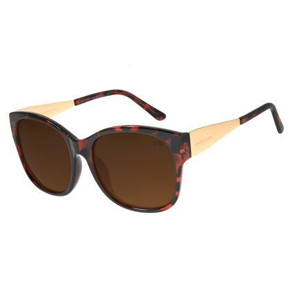 Óculos de Sol Feminino Chilli Beans Quadrado Tartaruga Polarizado OC.CL.2374-0206