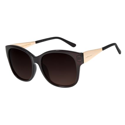 Óculos de Sol Feminino Chilli Beans Quadrado Marrom Polarizado OC.CL.2374-5702
