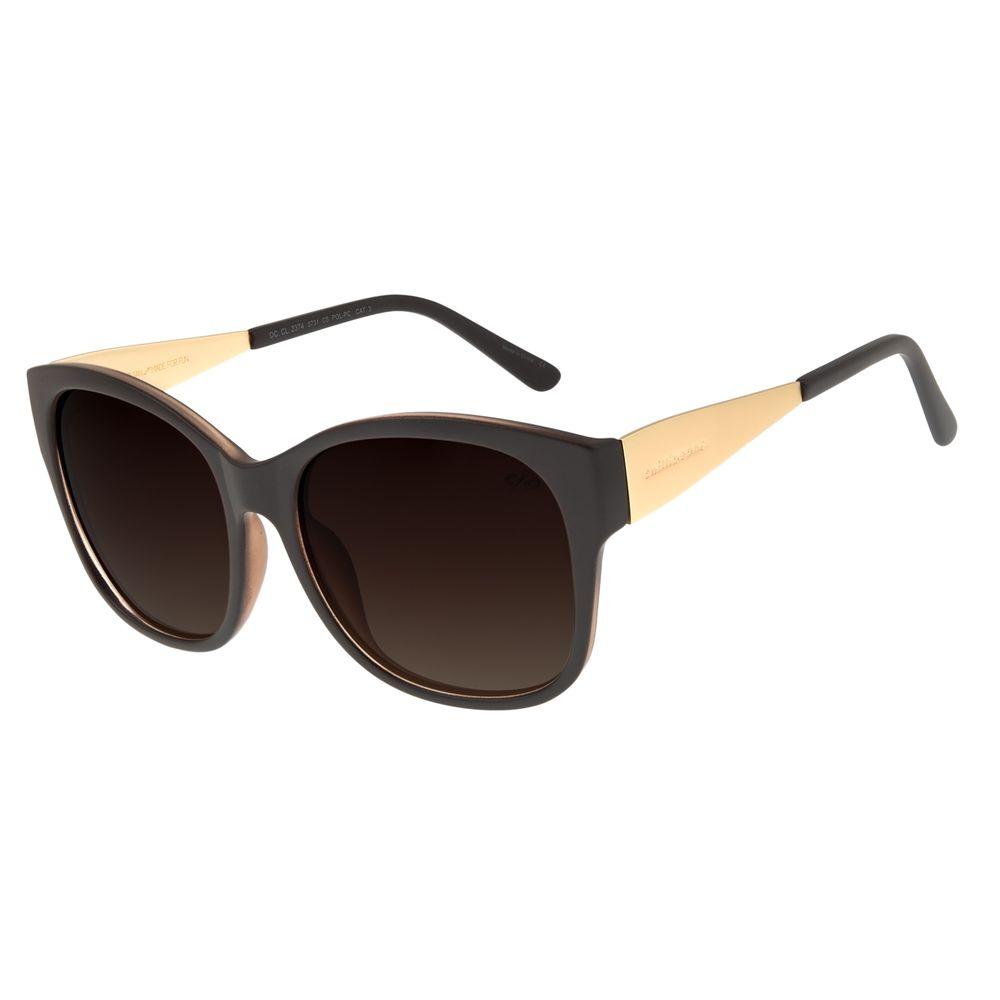 Óculos de Sol Feminino Chilli Beans Quadrado Fosco Polarizado OC.CL.2374-5731