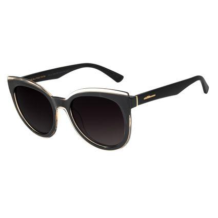 Óculos de Sol Feminino Chilli Beans Redondo Polarizado Preto OC.CL.2428-2001
