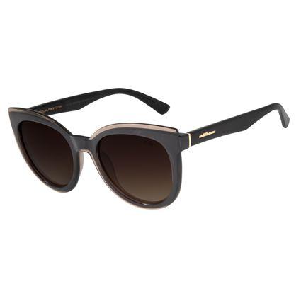 Óculos de Sol Feminino Chilli Beans Redondo Polarizado Marrom Escuro OC.CL.2428-5747
