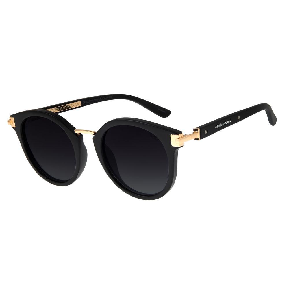 Óculos de Sol Feminino Chilli Beans Redondo Fosco Polarizado  OC.CL.2514-2031